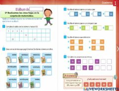 Interactive worksheet Números naturales