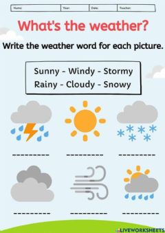 Interactive worksheet What's the Weather?