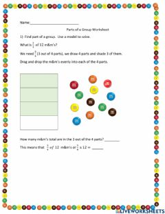Interactive worksheet Parts of a Whole
