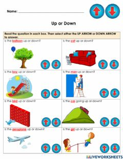 Interactive worksheet Maths Concepts: Up or Down