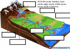 Interactive worksheet Course of a river