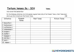 Interactive worksheet Torture tenses 2a
