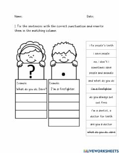 Interactive worksheet Our World