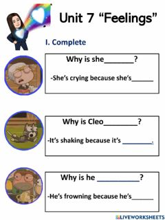 Interactive worksheet Feelings  Vocabulary -18