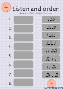 Interactive worksheet Find the rhythm 1