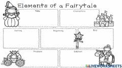 Interactive worksheet Parts of a fairy tale