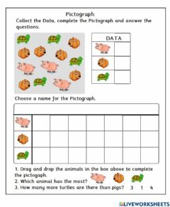 Interactive worksheet Create a Pictograph