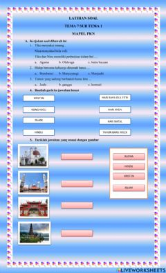 Interactive worksheet Keberagaman
