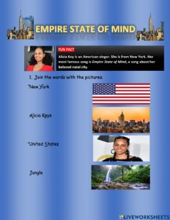 Ficha interactiva Empire State of Mind- Listening Exercise