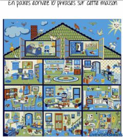 Interactive worksheet House picture