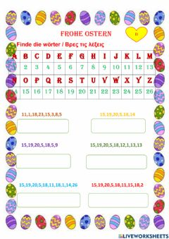 Interactive worksheet Ostern
