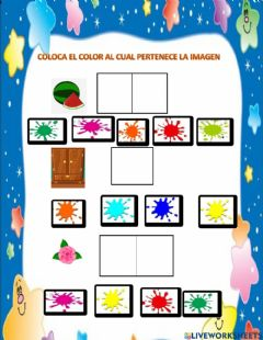 Interactive worksheet Imagen por color