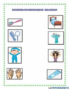 Interactive worksheet Hábitos de Aseo