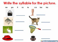 Interactive worksheet Syllables
