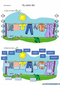 Interactive worksheet First Friends 1 - My clothes