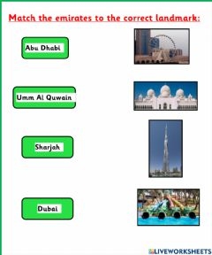 Interactive worksheet UAE Theme
