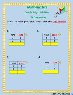 Interactive worksheet Double digit addition -2