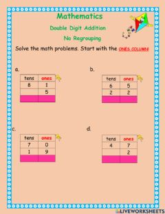 Interactive worksheet Double digit addition -3