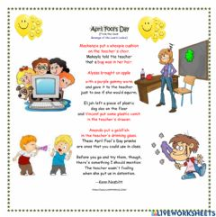 Interactive worksheet April Fool's Day