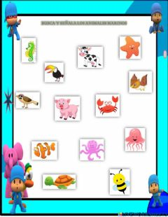 Interactive worksheet Busca al animalito