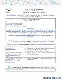Interactive worksheet Study guide