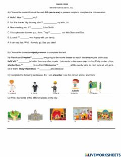 Interactive worksheet A1.2 Exam 2º Partial