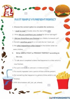 Interactive worksheet Past simple and Present Perfect