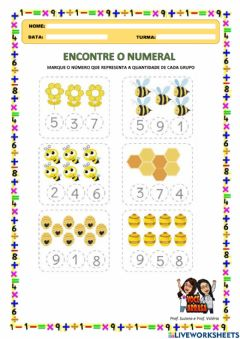Interactive worksheet Descubra o Numeral