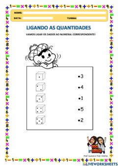 Interactive worksheet Ligando as Quantidades
