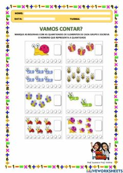 Interactive worksheet Vamos Contar?