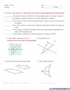 Ficha interactiva Ch 7 Similarity Review