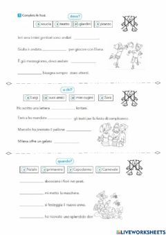 Interactive worksheet H no