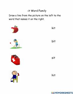 Interactive worksheet -it Word Family