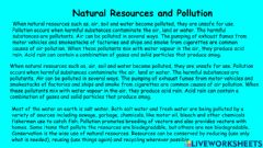 Interactive worksheet Natural Resources and Pollution Grade 6 Notes