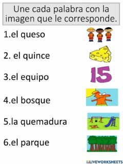 Interactive worksheet Vocabulario con que qui