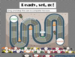 Interactive worksheet Number race from 1-17