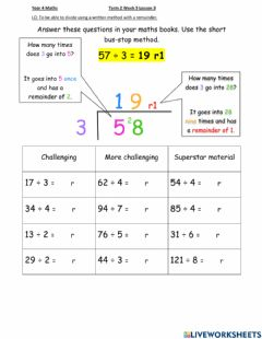 Interactive worksheet Dis Maths week 9 lesson 3 (intermediate and higer)