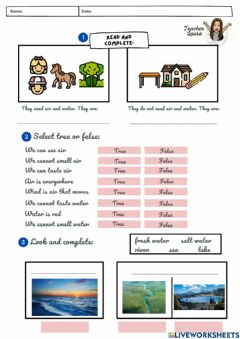 Interactive worksheet Unit 3: Air and Water