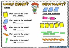 Interactive worksheet Colors-what color is it