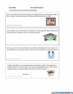Interactive worksheet DIS Maths Week 9 Lesson 4 (Intermediate and Higher)
