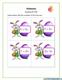 Interactive worksheet Counting on
