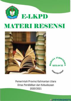 Interactive worksheet E-LKPD Bahasa Indonesia