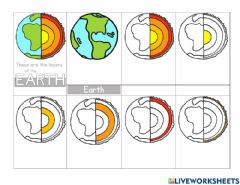 Interactive worksheet Earth's layers of the geosphere
