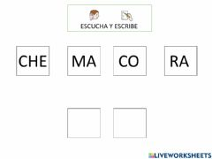 Interactive worksheet Lectura silábica 3