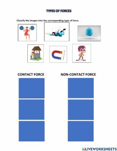 Interactive worksheet Types of forces