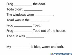 Ficha interactiva Frog and Toad-SPRING
