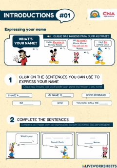 Interactive worksheet Introductions 1