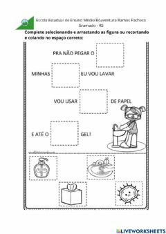 Interactive worksheet Cuidados