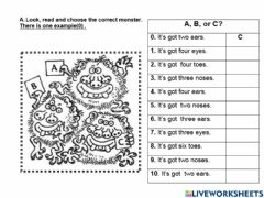 Interactive worksheet Parts of the body