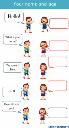 Interactive worksheet What's your name? How old are you?